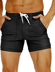 cheap -Men's Swim Shorts Swim Trunks Nylon Bottoms Breathable Quick Dry Swimming Beach Water Sports Patchwork Summer / Stretchy