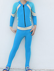cheap -Boys' Girls' Rash Guard Dive Skin Suit Diving Suit UV Sun Protection Anatomic Design Full Body 2-Piece Front Zip 3-Piece - Diving Water Sports Patchwork Summer / Micro-elastic / Kid's