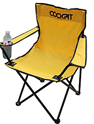 cheap -Fishing Chairs Camping Chair with Cup Holder Portable Foldable Compact Durable Oxford cloth Steel for 1 person Camping / Hiking Hunting Fishing Beach Autumn / Fall Spring Yellow