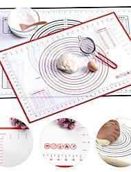 abordables -hoja de estera de hornear de silicona de varios tamaños con escala antiadherente almohadilla de masa rodante estera de amasamiento cocina cocina hojaldre hoja revestimiento