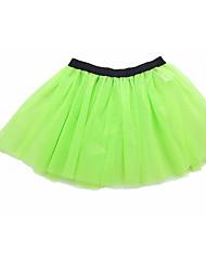 Недорогие -Балет Балетные пачки и юбки Девочки Выступление Тюль На эластичной ленте Средняя талия Тюлевая юбка