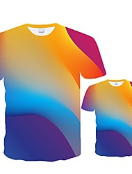 cheap -Baby T Shirt Men Women T-shirt Graphic Tees Boy Tshirt Male 3D Rainbow Top Blouse