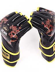 cheap -Boxing Gloves For Martial Arts Boxing Training MMA Grappling Fingerless Gloves Durable Mesh Palm Breathable Moisture Wicking Shockproof Adults Unisex - Black Red Blue