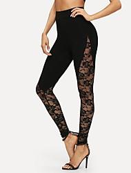 cheap -Women's Sporty Slim Sweatpants Pants Solid Colored Black