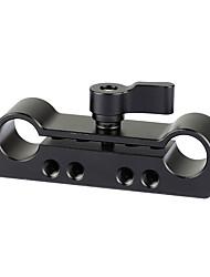Недорогие -Camvate 15-миллиметровый двойной зажим стержня адаптера с 1 / 4-20&усилитель; M4 темы C2099