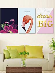Недорогие -3 шт. Печать декоративной живописи масляной живописи дома декоративные настенные росписи на холсте, печать цветочные 40x60 см x 3