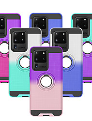 cheap -Case For Samsung Galaxy S20/S20 plus/A71/A51/S9 / S9 Plus / Galaxy S10 Dustproof / Ring Holder / Ultra-thin Back Cover Color Gradient TPU / PC