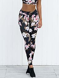 cheap -Women's Sporty / Basic Jogger / Sweatpants Pants - Plants / Floral / Print Tropical Leaf, Classic / Sporty / Patchwork Black S M L