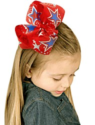 cheap -Kids / Toddler / Infant Girls' Active / Basic / Sweet Unicorn Geometric / Galaxy / Color Block Bow Polyester Hair Accessories White / Blue / Red One-Size