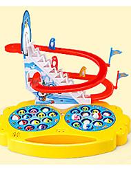 Недорогие -Рыболовные игрушки Вращающаяся Рыбалка Игрушка ABS Пингвин Рыбки Электрический Взаимодействие родителей и детей 2 игрока Детские Игрушки Дары