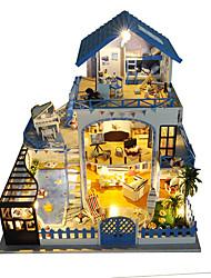 cheap -Dollhouse Toy Kitchen Set Pretend Play DIY Furniture House Plastics Wooden Classic Unisex Toy Gift
