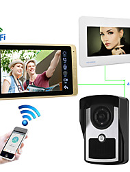 cheap -Wired & Wireless 7 inch Hands-free 1024*600 Pixel One to Two video doorphone