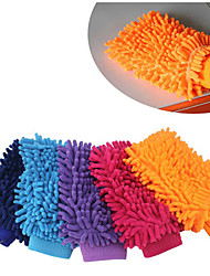 cheap -2pcs Microfiber Car Cleaning Clay BarCar Detailing Chenille Glove Mitt Ultrafine Microfiber Household Auto Care