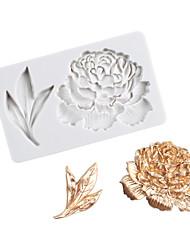 Недорогие -пион цветок пион лист односторонняя штамповка помадка торт силиконовые формы инструменты для домашней выпечки
