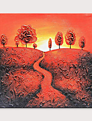 cheap -Home Decoration Handmade Beautiful Sunset Mountain View Oil Painting On Canvas