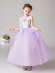 cheap -Princess Unicorn Dress Flower Girl Dress Girls' Movie Cosplay A-Line Slip Cosplay Purple / Pink / Green Dress Tulle Polyster