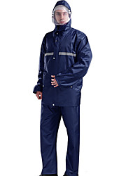 cheap -Men's Hiking Raincoat Outdoor Solid Color Waterproof Windproof Raincoat Nylon Black Burgundy Blue