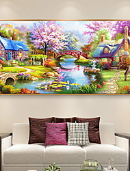 """cheap -Full Square/Round Drill 5D DIY Diamond Painting """"Flower landscape"""" Embroidery Cross Stitch 3D Home Decor Gift 100x50cm"""