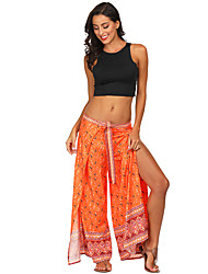 cheap -Women's Dancer Yoga Meditation Masquerade Boho Exotic Dancewear Polyster Purple Yellow Fuchsia Pants