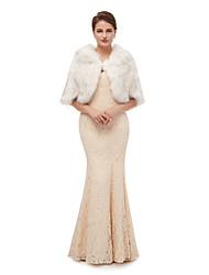 cheap -Half Sleeve Shawls Faux Fur Wedding Women's Wrap With Solid