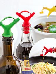Недорогие -2 шт. Двуглавый соевый соус масло бутылка рот пробки розлива устройства пробки вина приправы перевернутая форсунка жидкость директор жидкости
