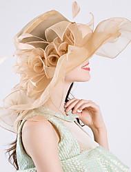 Недорогие -Старинный Мода Тюль / органза Головные уборы с Пух / Бант / Цветы 1 шт. Свадьба / на открытом воздухе Заставка