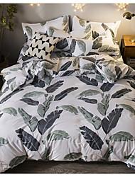 cheap -Duvet Cover Sets 4 Piece Linen / Cotton Floral / Botanical Pink Printed Simple
