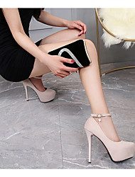 cheap -Women's Heels Stiletto Heel Pointed Toe PU Spring & Summer Black / Beige