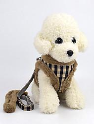 cheap -Dog Harness Textile Brown