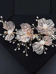 cheap -Women's Headbands For Wedding Anniversary Gift Formal Pearl Copper Alloy Blushing Pink 1pc