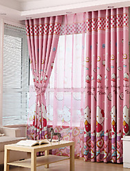 cheap -Gyrohome 1PC GYC2164 Pink Cats Shading High Blackout Curtain Drape Window Home Balcony Dec Children Door *Customizable* Living Room Bedroom Dining Room