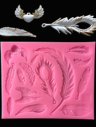 Недорогие -DIY новый ангельские крылья перо силиконовые формы торт украшения