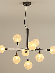 cheap -9-Light 90 cm Lantern Desgin Chandelier Metal Glass Electroplated Contemporary / Nordic Style 110-120V / 220-240V