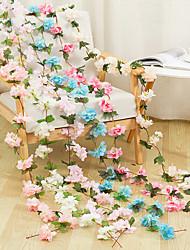 Недорогие -Моделирование ротанга поддельные цветок винограда свадьба свадьба потолочные украшения винный отель спальня чердак украшения маленькие цветы