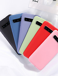 cheap -Case For Samsung scene map Samsung Galaxy S10 S10 Plus S10 Lite S10 5G A51 A71 Pure color matte liquid silicone material all-inclusive mobile phone case MH