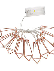 cheap -Rose Gold Diamond LED Battery Lights Flashing String Lights Outdoor Decoration Lights Water Drop Strings