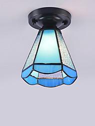 cheap -15 cm Geometric Shapes Flush Mount Lights Metal Glass Painted Finishes Tiffany / Vintage 110-120V / 220-240V