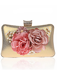 cheap -Women's Bags PU Leather Polyester Evening Bag Flower Floral Print Party Wedding Event / Party Evening Bag Wedding Bags Handbags Black Purple Red Fuchsia