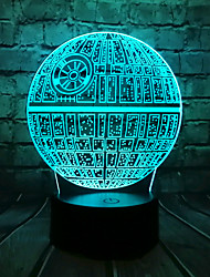cheap -Big Movie 3D LED Light USB Astro Cartoon Colorful Bulb Ball Atmosphere Lava Night Light Lighting Gift