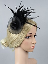 cheap -Artificial feather Fascinators with Feather 1 Piece Carnival / Masquerade Headpiece