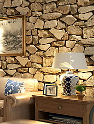 "cheap -Faux Rock Stone Peel and Stick Wallpaper 20""x 395"" Lt.Grey/Brown"