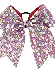 cheap -Kids / Toddler Girls' Vintage / Active / Basic Polka Dot / Patchwork Bow Polyester Hair Accessories White / Purple / Blushing Pink One-Size
