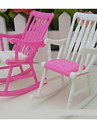 cheap -Dollhouse Accessory DIY Hand-made Parent-Child Interaction Furniture Chair Plastic Shell 5 pcs Child's Adults' All Toy Gift