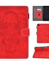 Недорогие -чехол для apple ipad mini 3/2/1 / ipad mini 4 / ipad mini 5 держатель карты / с тиснением / с рисунком чехлы для тела сплошной цвет / искусственная кожа животных