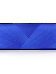 cheap -Women's Silk Evening Bag Solid Color Blue