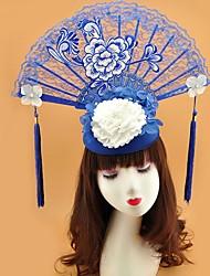 cheap -Poly / Cotton Blend Fascinators with Flower 1 Piece Wedding / Tea Party Headpiece