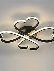 Недорогие -58см современный потолочный светильник светодиодный встраиваемый светильник освещения формы цветка для гостиной спальня кухня лампы