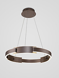 cheap -60 cm Circle Design Pendant Light Aluminum Circle Painted Finishes LED / Modern 110-120V / 220-240V