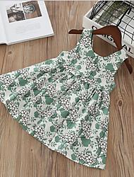 Недорогие -Дети Девочки Цветочный принт Платье Светло-зеленый