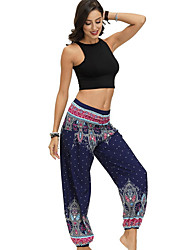 cheap -Women's Basic Bloomers Pants - Print Black Blue Red One-Size